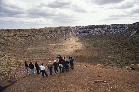 Внутри метеоритного кратера Бэрринджер